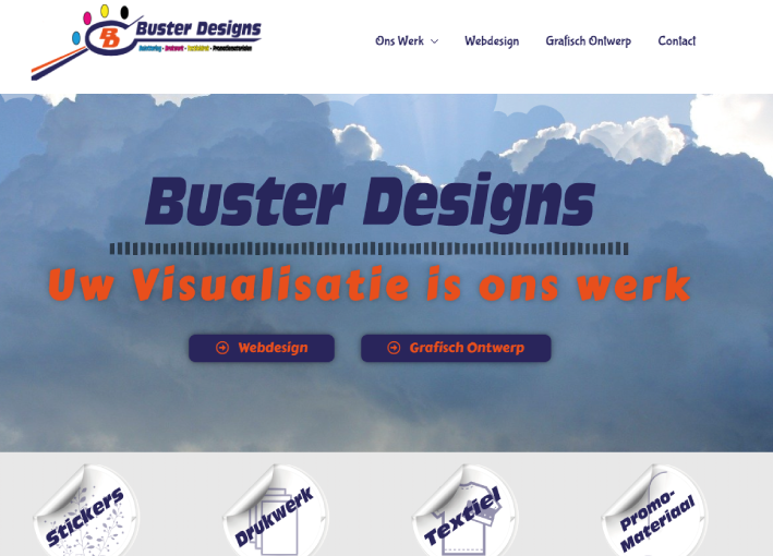 Buster Designs Essen Website
